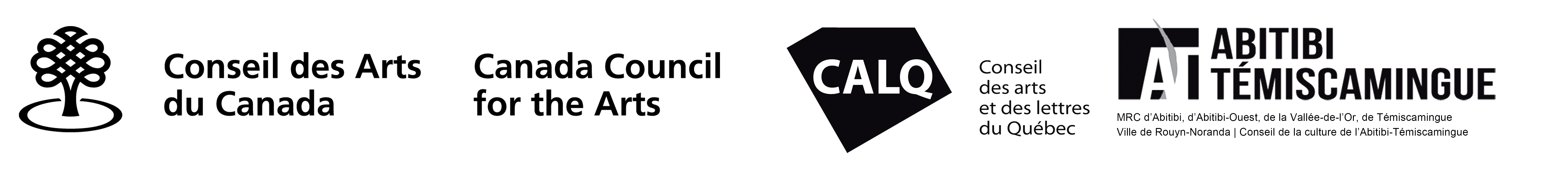 Logos CAC CALQ MRC Abitibi-Témiscamingue