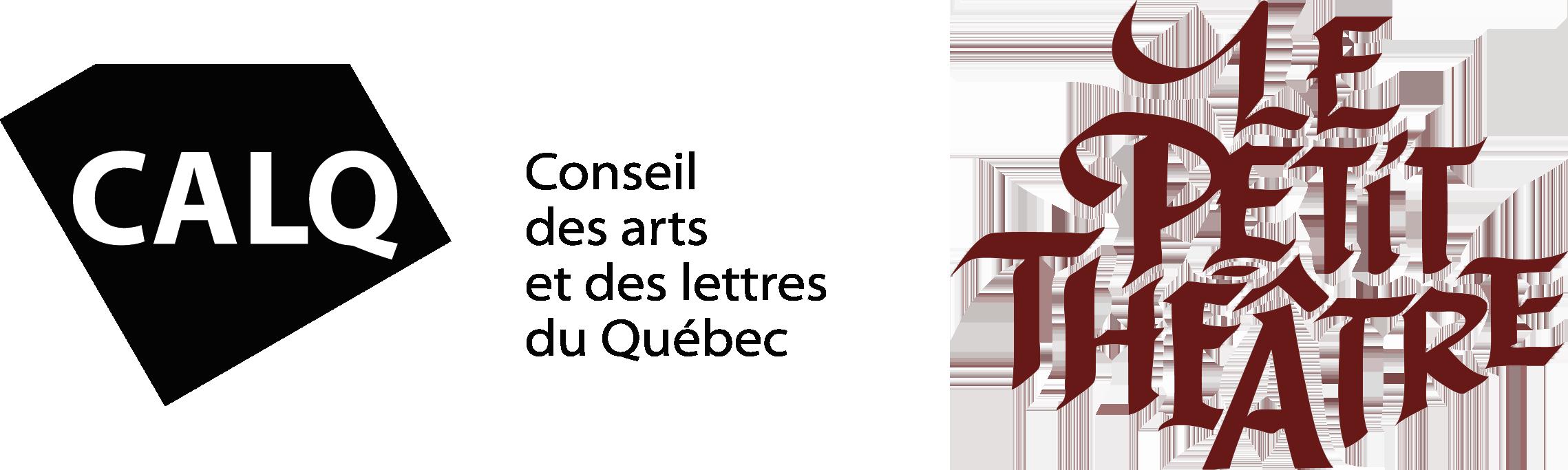 Logos CALQ et Petit Théâtre